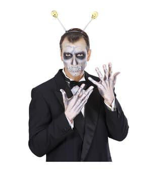 Diademă cu antene cu craniu