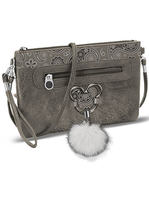 Mickey Mouse Medium Shoulder Bag in Grey - Disney