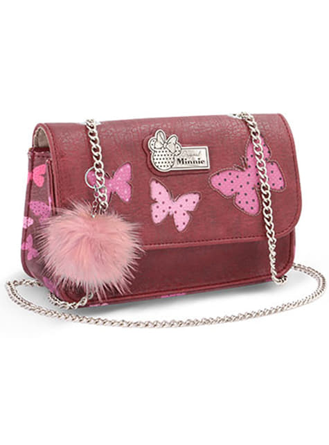 Minnie Mouse Chain Shoulder Bag in Red - Disney