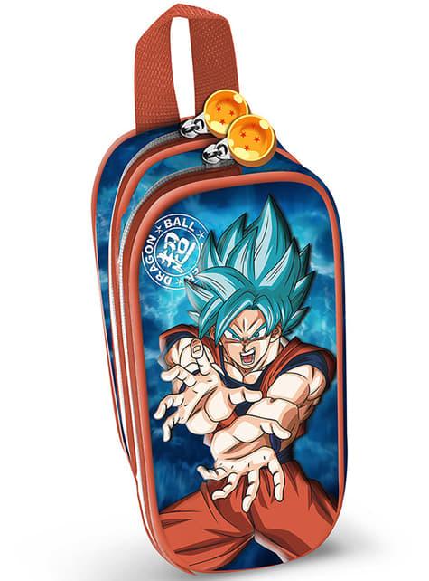 Estuche de dos cremalleras Goku Super Saiyan Blue - Dragon Ball