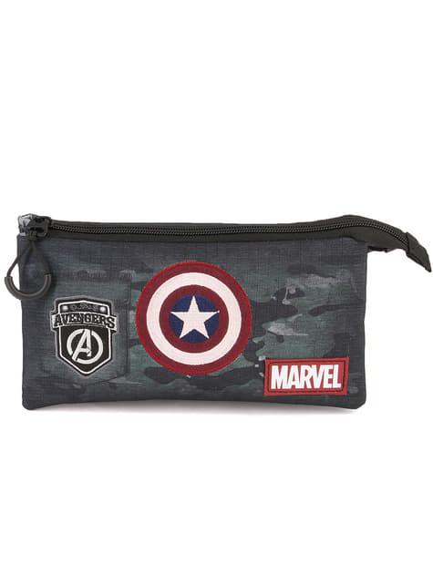 Trousse Captain America avec trois compartiments camuflaje