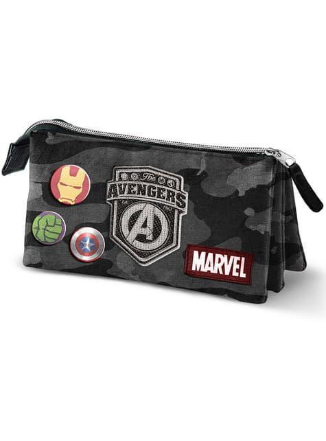 Estuche de Los Vengadores con tres compartimentos camuflaje – Marvel