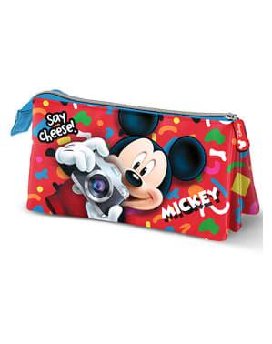 Pennfodral med tre dragkedjor Musse Pigg - Disney