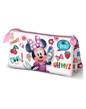 Minnie Mouse pencil case with three compartments - Disney