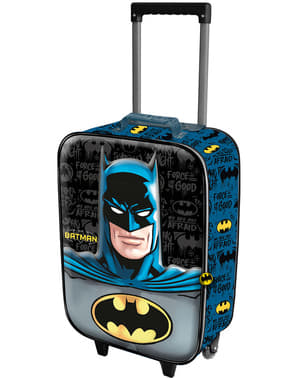 Ghiozdan 3D cu rotile Batman