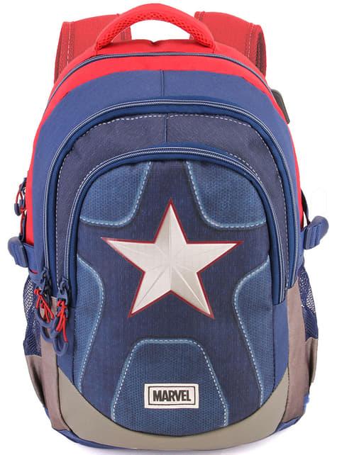 Sac à dos Captain America avec port USB
