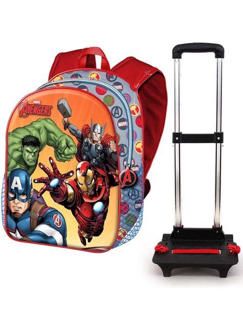3D batoh na kolečkách The Avengers oranžový