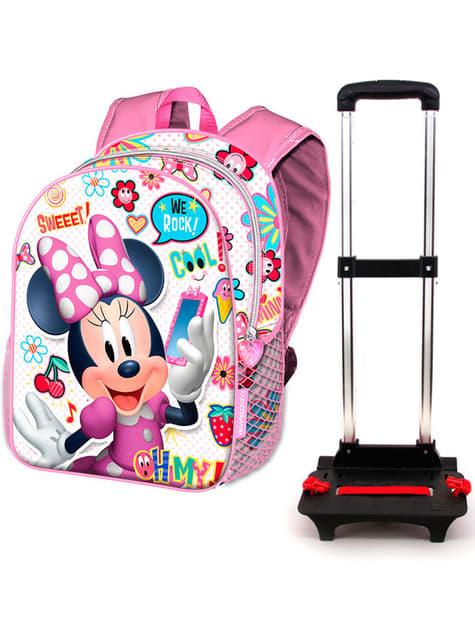3D batoh na kolečkách Minnie Mouse růžový - Disney