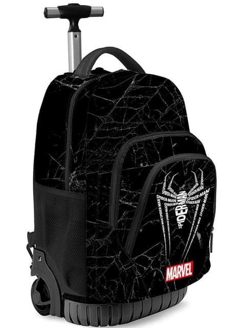 Mochila com rodas de Homem-Aranha em preto