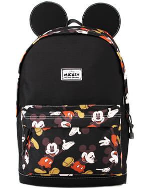Micky Maus Rucksack schwarz mit Ohren - Disney