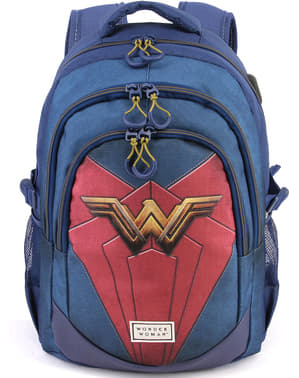 Wonder Woman Backpack with USB Port