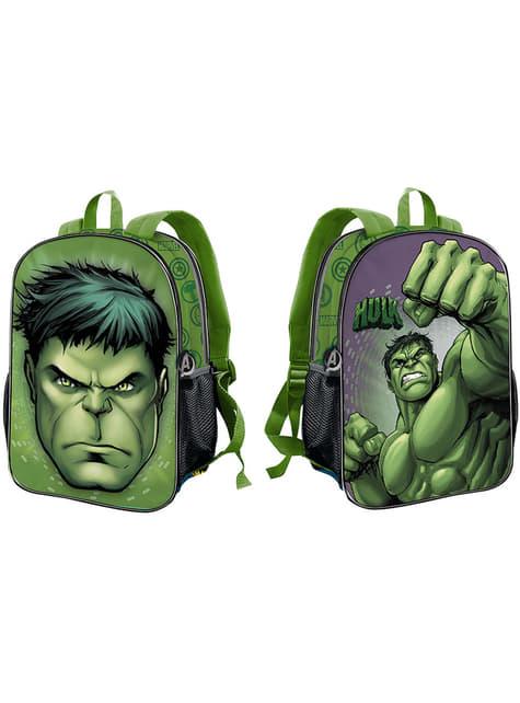 Mochila escolar de Hulk reversible