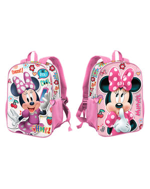 Mochila escolar de Minnie Mouse reversível - Disney