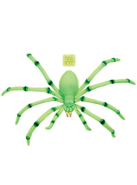 Araña decorativa gigante fosforescente