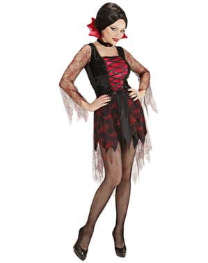 Spinnennetz-Vampirin Kostüm für Damen