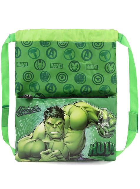Mochila saco de Hulk para niño