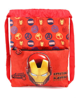 Iron Man Drawstring Backpack for Boys