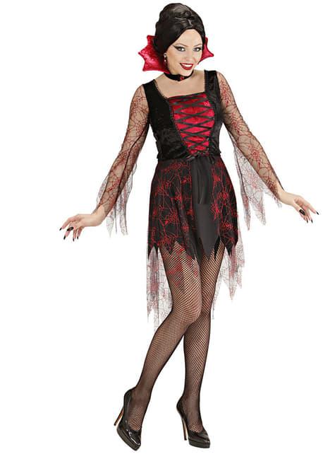 Vamppyyrinasu hämähäkinseitillä naiselle