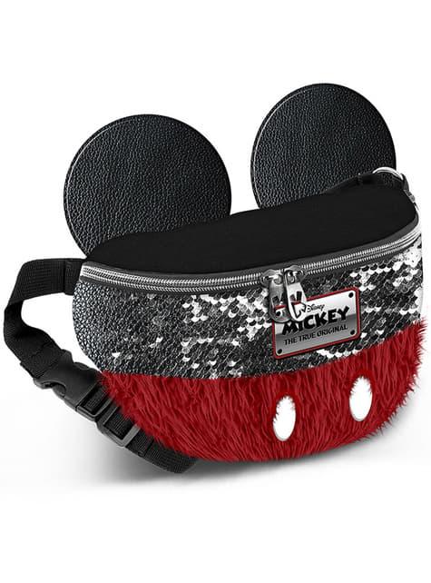 Saco de cintura de Mickey Mouse vermelho e preto - Disney