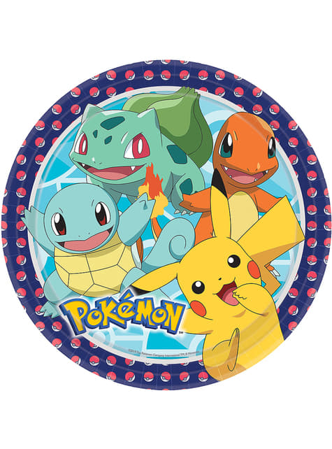 Set of 8 Pokémon Plates - Pokémon Collection