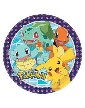 Set of 8 Pokémon Plates - Pokémon Collection
