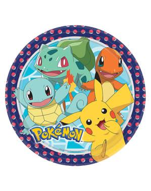 Sett med 8 Pokémon Tallerkener - Pokémon Kolleksjon