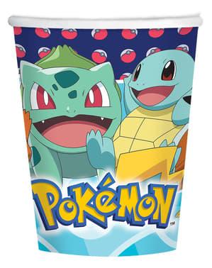 Pokémon Pappbecher Set 8-teilig - Pokémon Collection