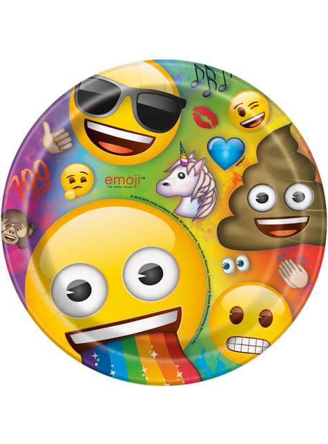8 platos de Emoji (23 cm)