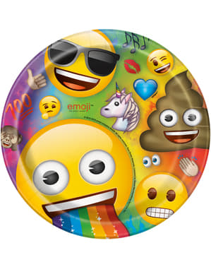 8 pratos de Emoji (23 cm)