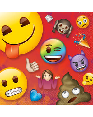16 guardanapos de Emoji (33x33 cm)