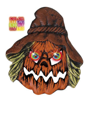 Scarecrow Pumpkin with Colour Changing Eyes