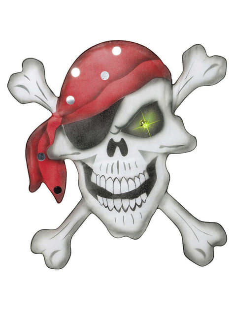 Caveira pirata com lenço em seda