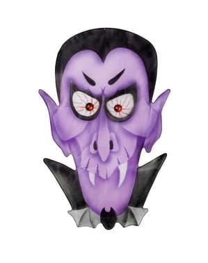 Vampier met ogen van steen op choffon