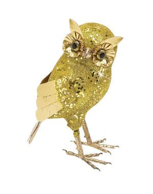 Stor Gull Glitter Ugle