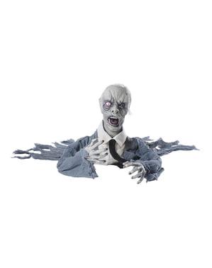 Dekorace zombie s pohyblivou hlavou, zvukovými a světelnými efekty
