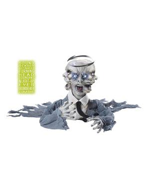 Zombie strascicato con testa girante ed effetti sonori e luminosi