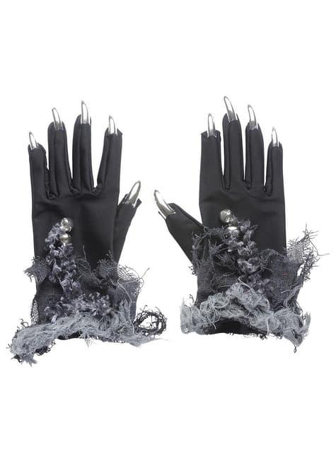 Рукавички з срібними нігтями і дзвонами