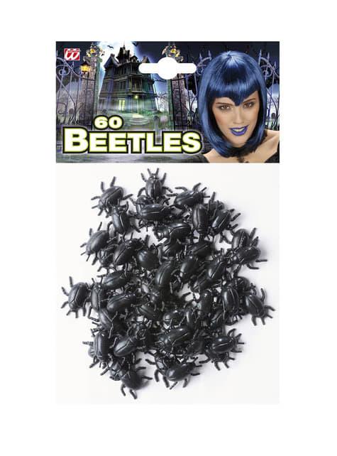 60 escarabajos negros Halloween