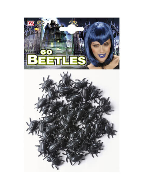 60 Schwarze Käfer Halloween