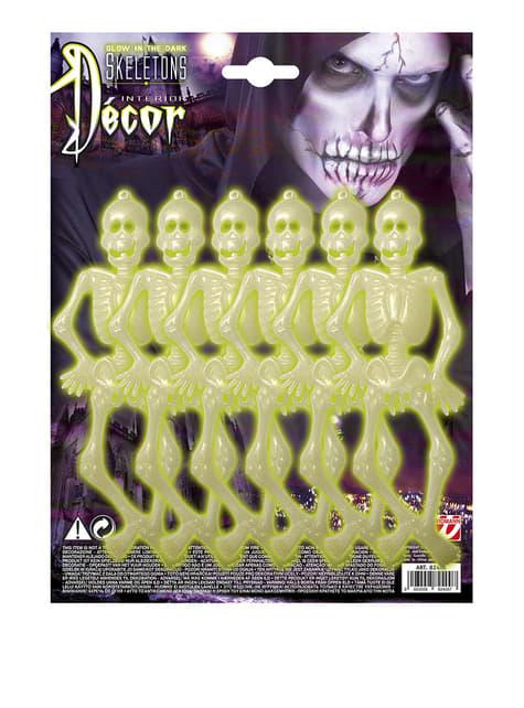 Zestaw 6 szkieletów fluorescencyjnych