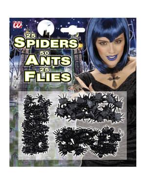 Conjunto de insetos invasores