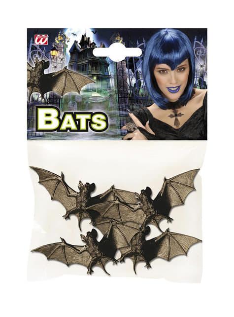 Set of 4 nocturnal bats