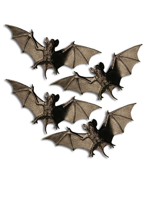 4 Nächtliche Fledermäuse Halloween