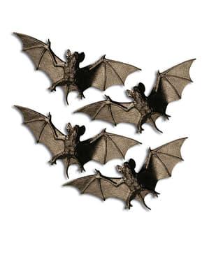 4 chauve-souris nocturnes Halloween