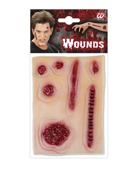 Zestaw zaifekowanych ran