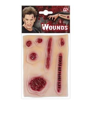 Conjunto de feridas infetadas