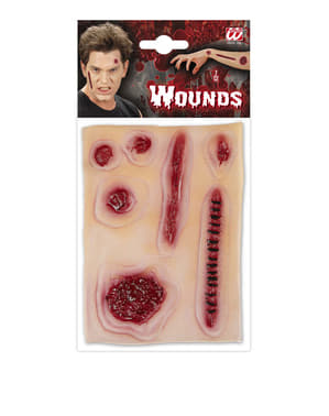 Set of fake wounds