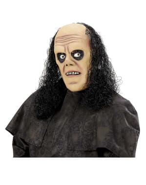 Máscara de enterrador con pelo