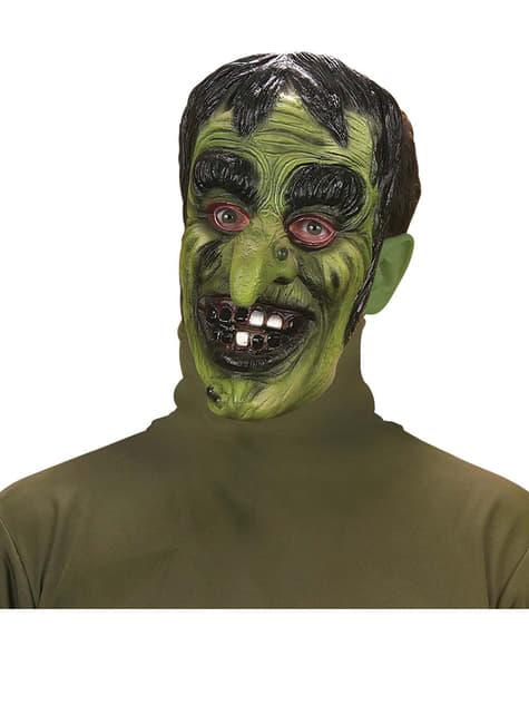 Máscara de brujo verde