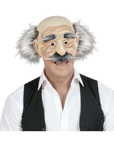 Máscara de abuelo bigotudo